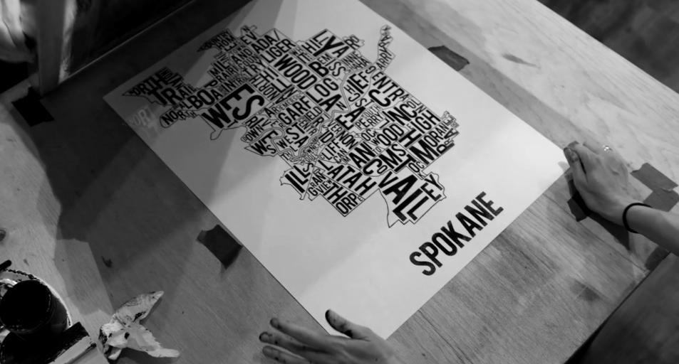 Spokane neighborhood map