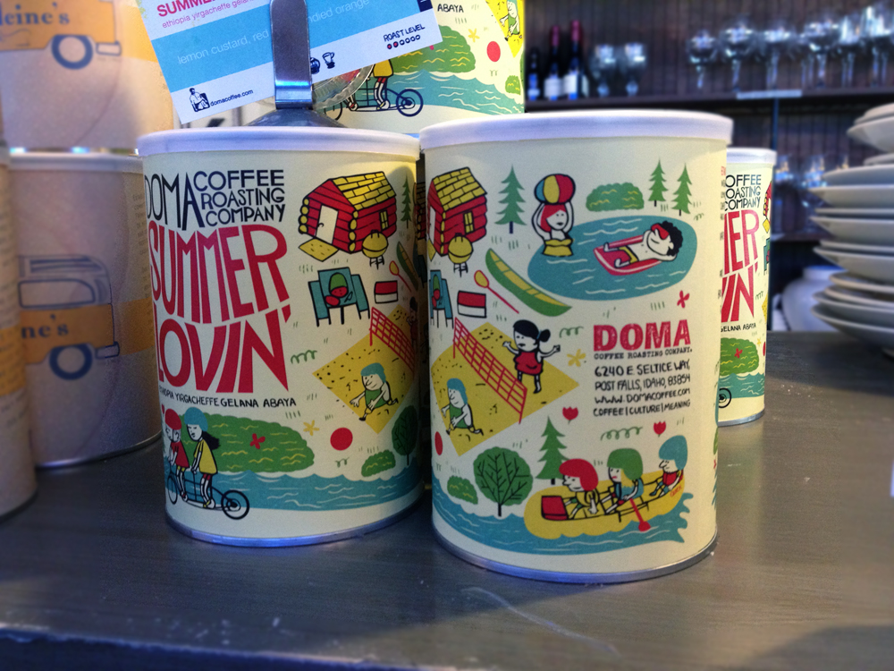 Doma Coffee cans by Josh Quick