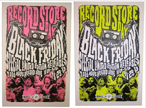 Record Store Day print by Derrick King